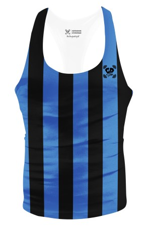 blue stripe stringer vest