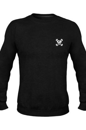 get down logo black crew neck sweater