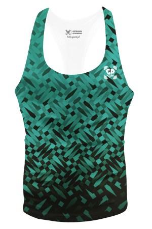 green mosaic stringer vest