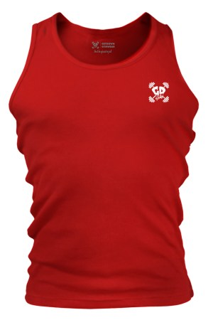 Get Down Logo Fitted Tank Vest Red
