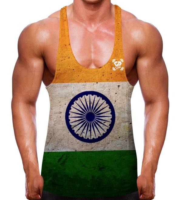 Indian Flag Stringer Vest