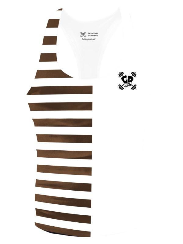 Half Brown Stripe Stringer Vest