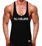 Till I collapse black stringer vest