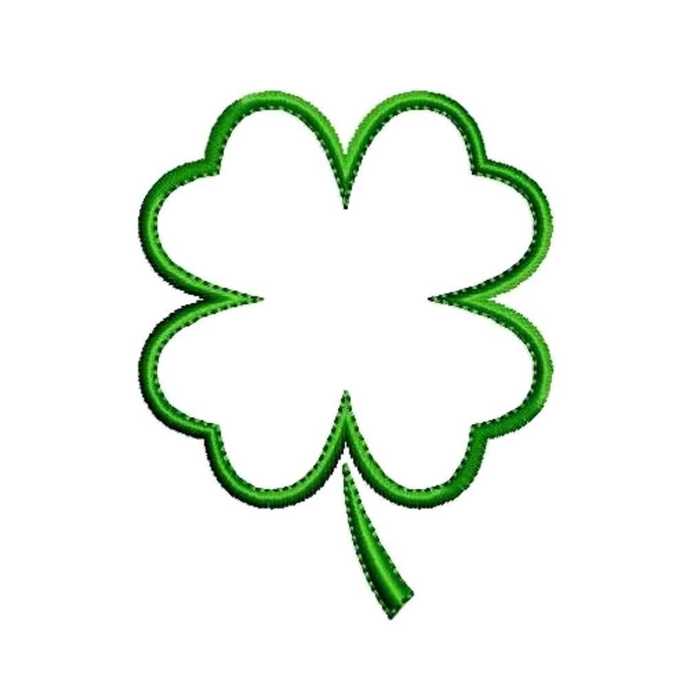 hight resolution of 1000x1000 free shamrock outline clip art