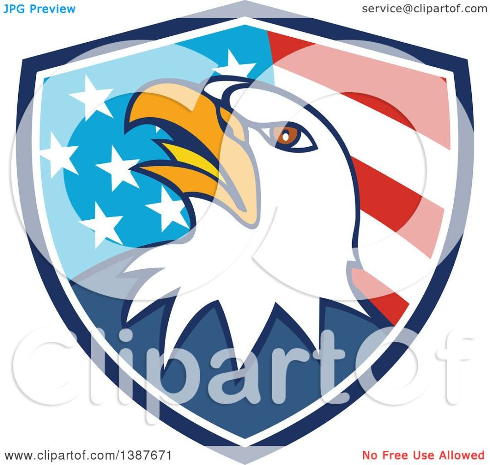 medium resolution of 1080x1024 clipart of a cartoon bald eagle head in an american flag shield