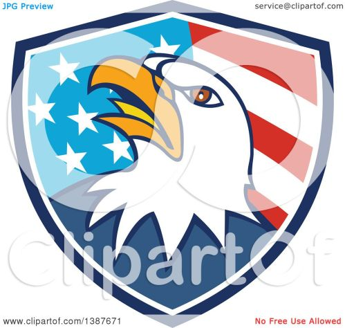 small resolution of 1080x1024 clipart of a cartoon bald eagle head in an american flag shield
