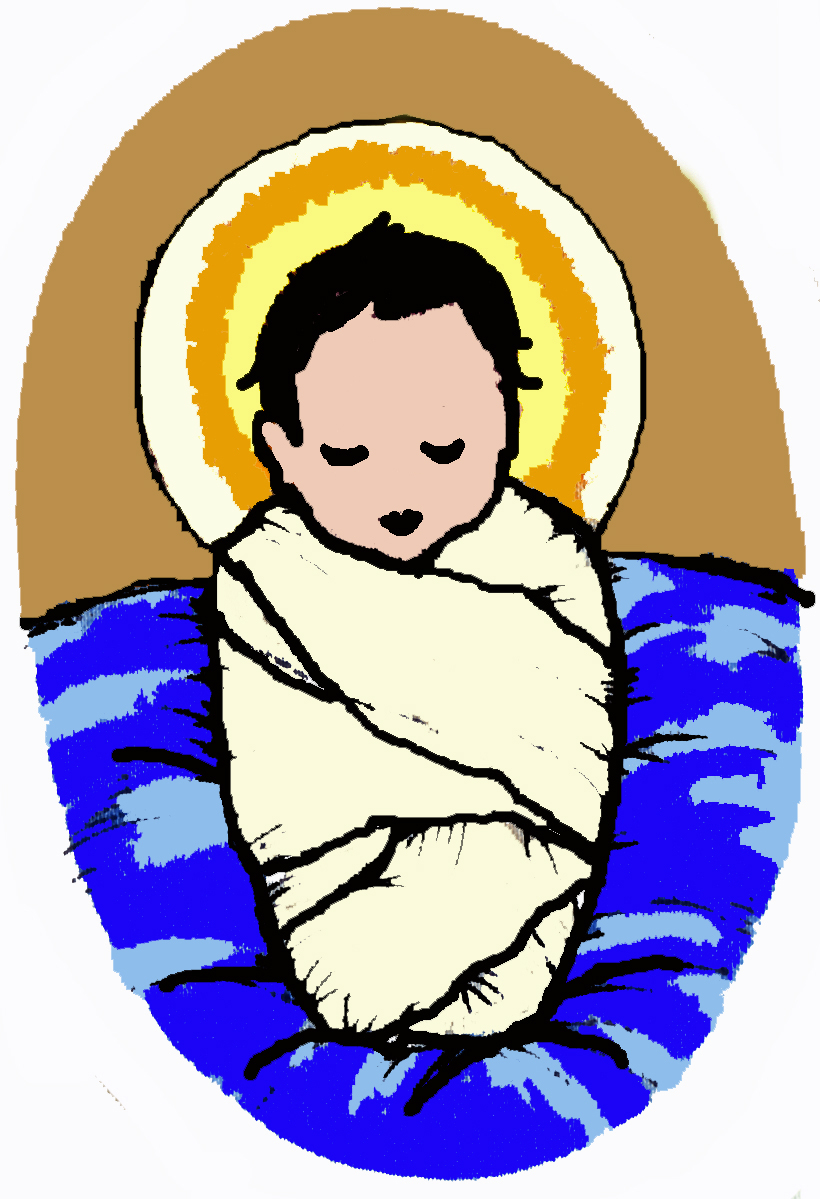 hight resolution of 820x1199 baby jesus images free