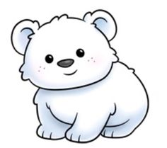 polar bear clipart baby cute drawing bears drawings christmas clip cartoon mother getdrawings clipartmag cliparts