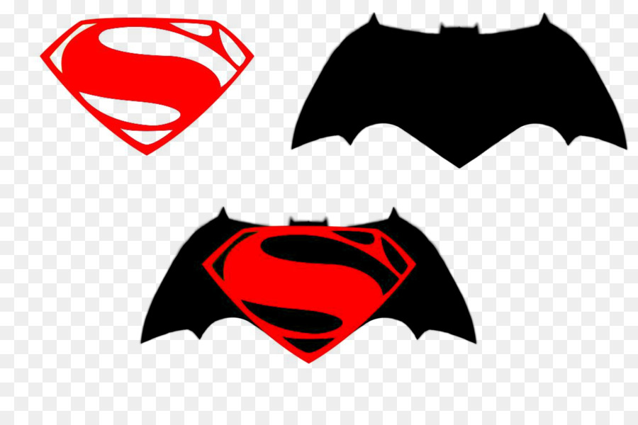 batman vs superman clipart