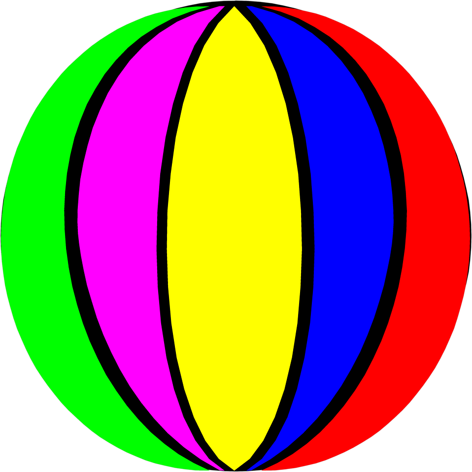 medium resolution of 958x958 beach ball clipart clipartix
