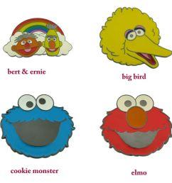 998x1000 sesame street characters belt buckle elmo big bird cookie monster [ 998 x 1000 Pixel ]