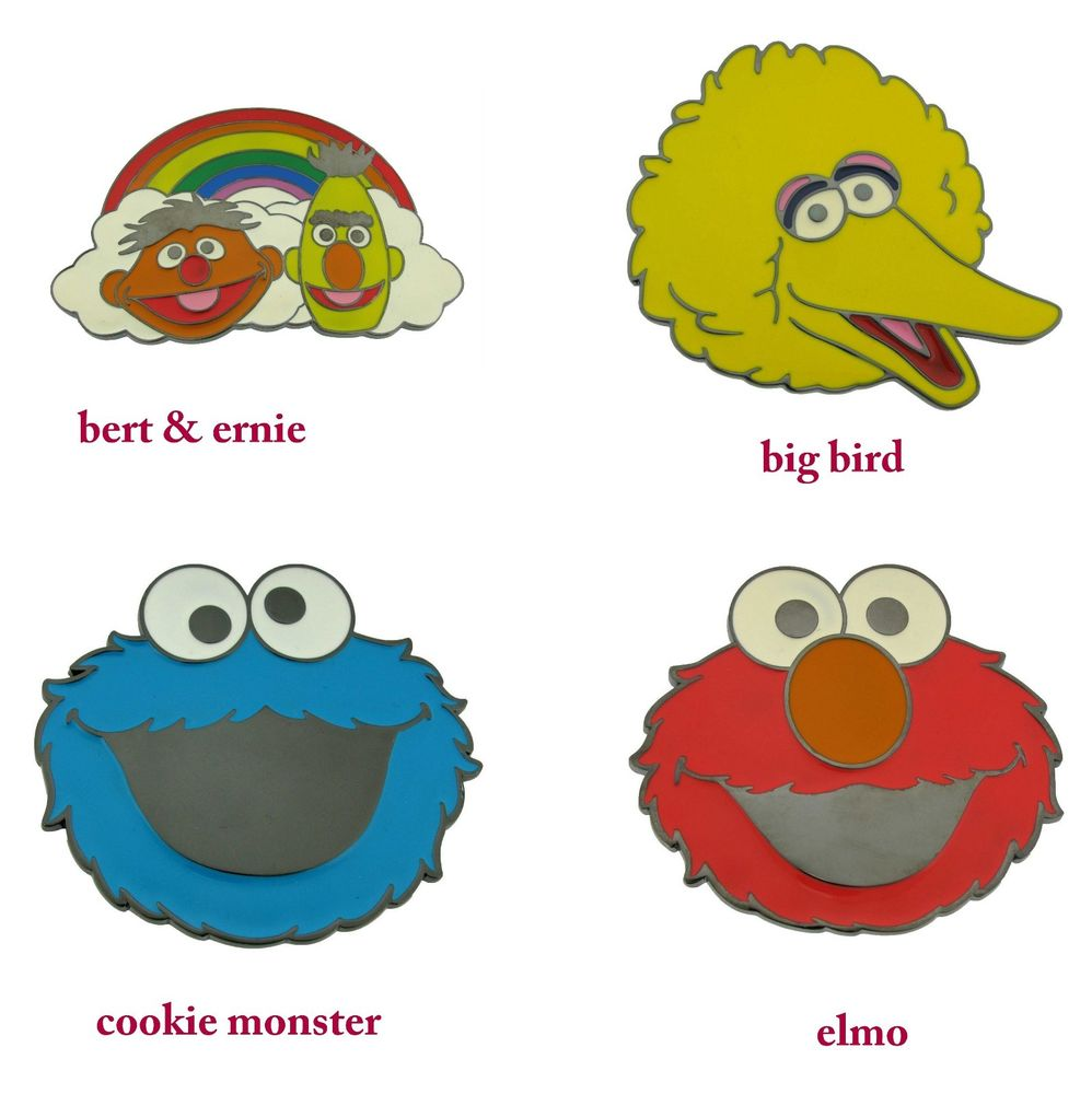 hight resolution of 998x1000 sesame street characters belt buckle elmo big bird cookie monster