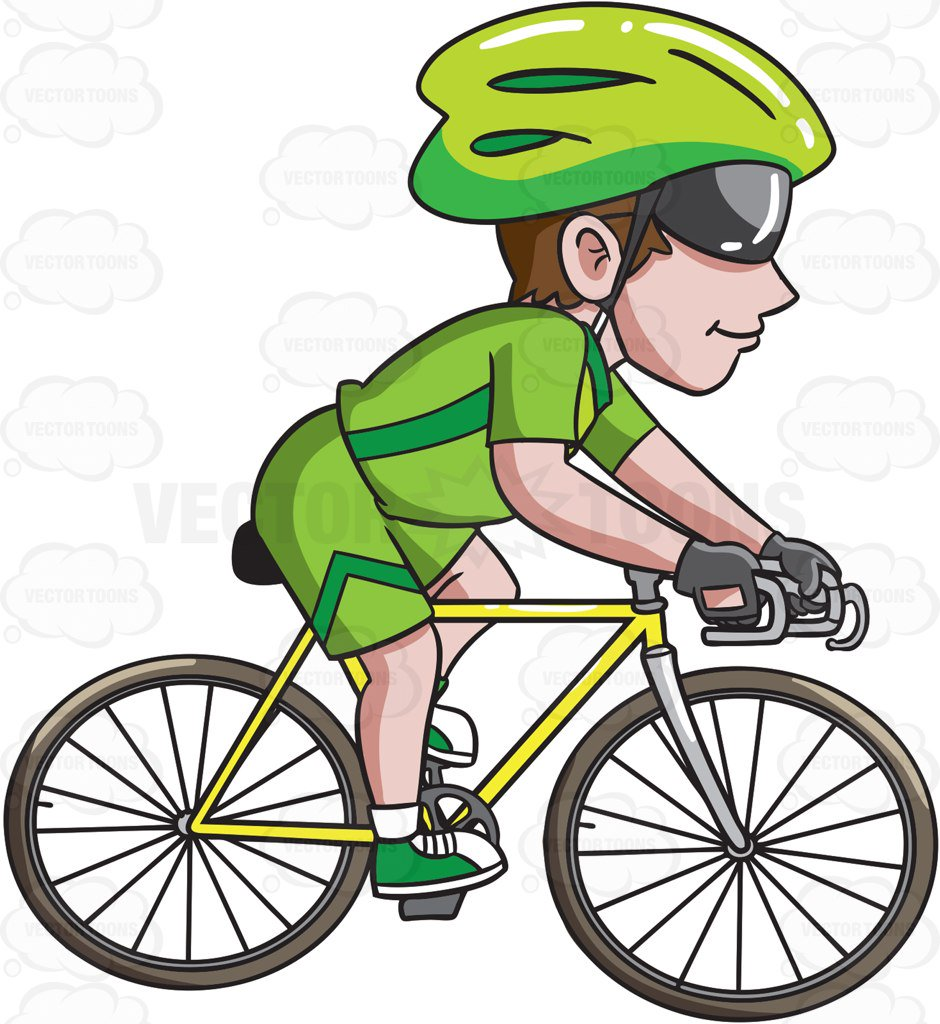 bike riding clipart at