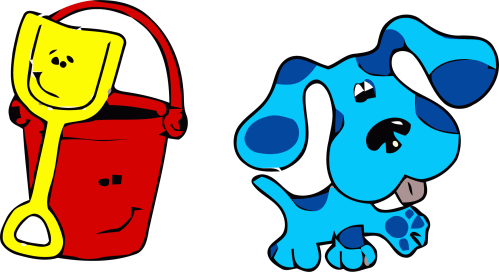 small resolution of 2170x1184 blue s clues clip art bucket clipart png