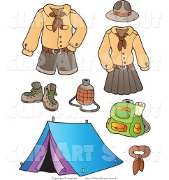 1024x1044 clipart of scout uniforms and camping gear digital collage by [ 1024 x 1044 Pixel ]