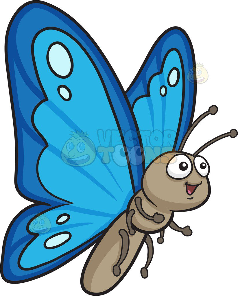 hight resolution of 823x1024 a pretty butterfly with two tone blue wings cartoon clipart