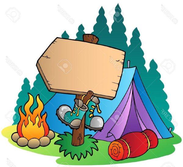 Kids Camping Clip Art