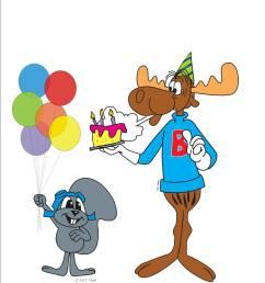 1275x1650 moose clipart birthday [ 1275 x 1650 Pixel ]