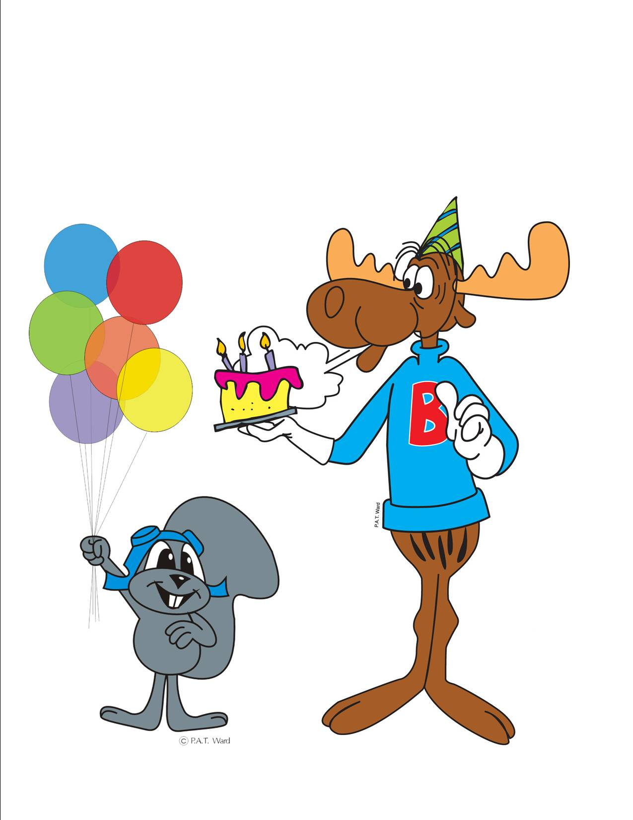 hight resolution of 1275x1650 moose clipart birthday