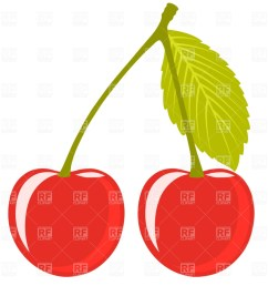 1200x960 cherry pair with leaf royalty free vector clip art image [ 1200 x 960 Pixel ]