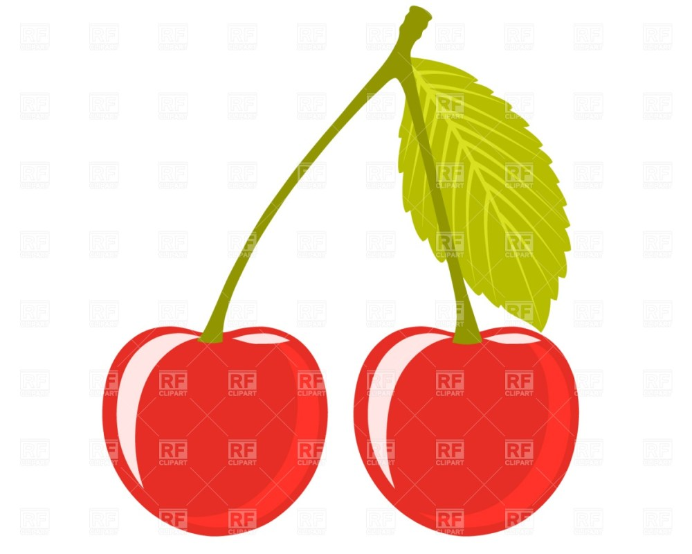 medium resolution of 1200x960 cherry pair with leaf royalty free vector clip art image