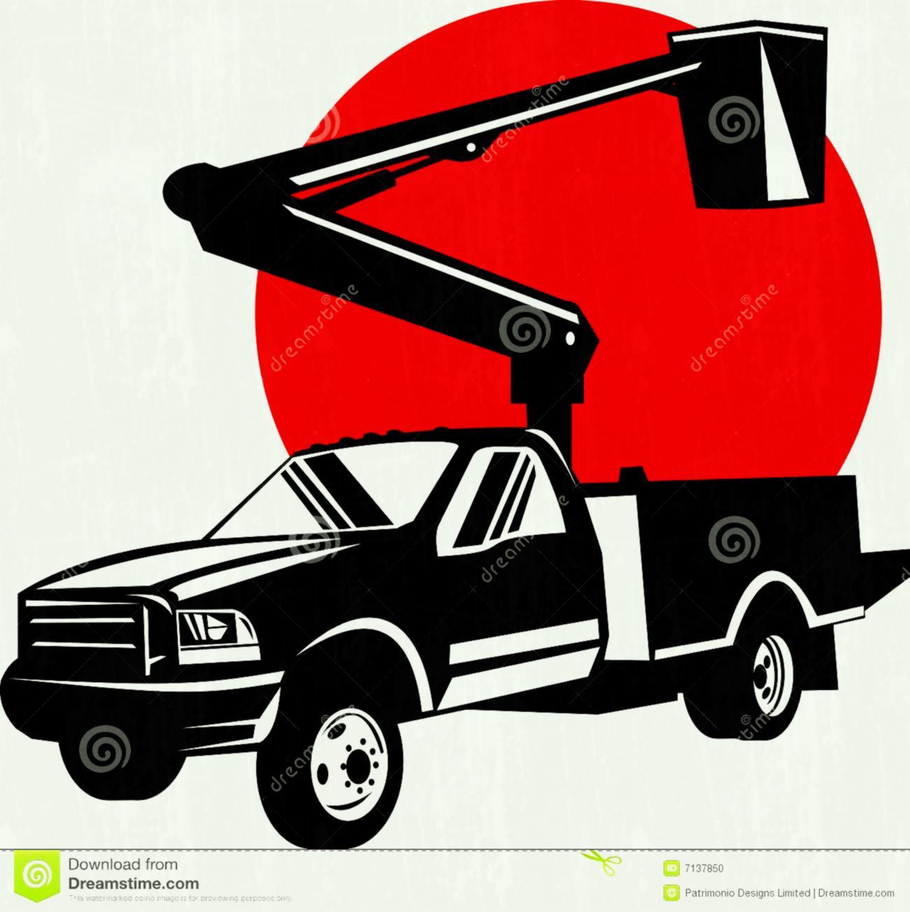 hight resolution of 1300x1303 bucket truck clipart clip art