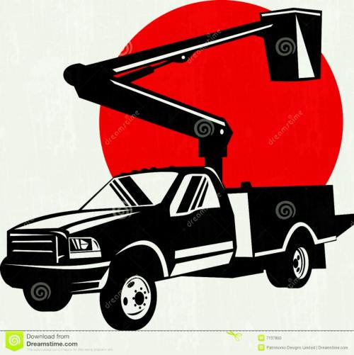 small resolution of 1300x1303 bucket truck clipart clip art