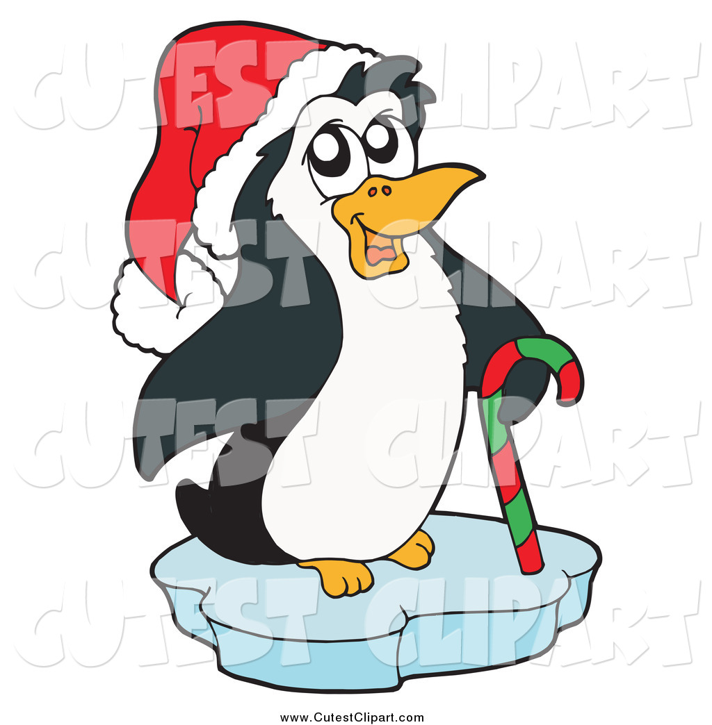 hight resolution of 1024x1044 vector clip art of a cute christmas penguin wearing a santa hat