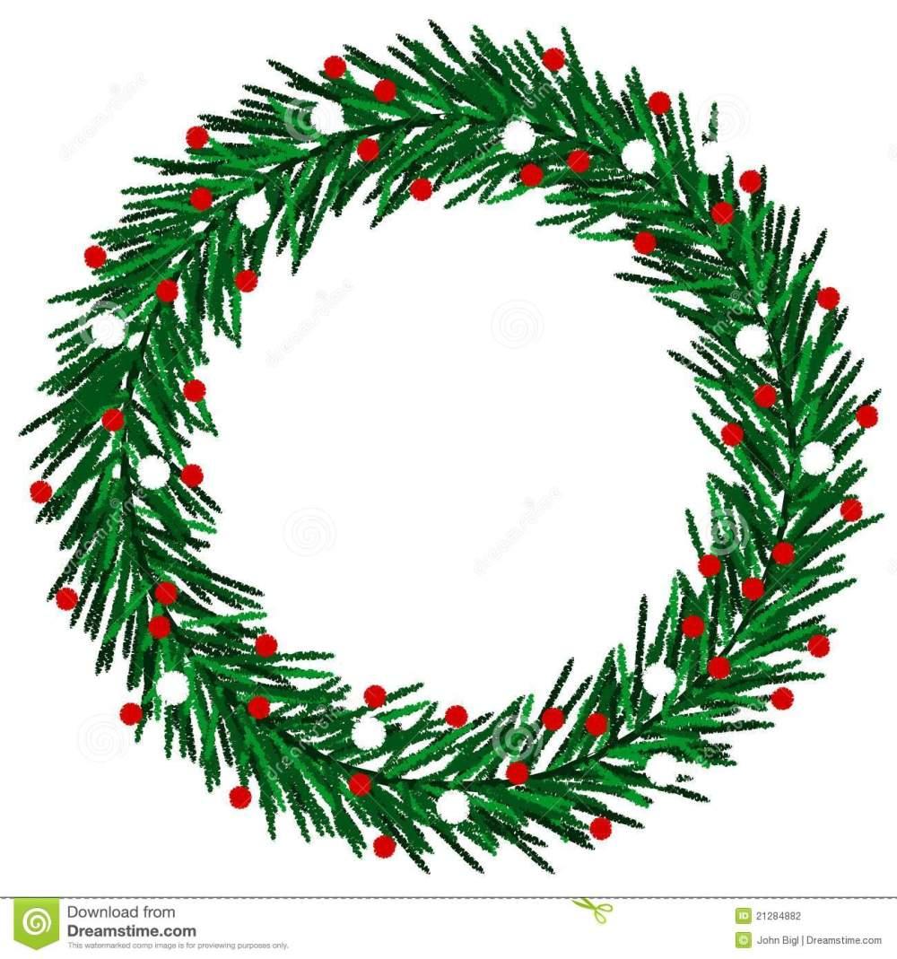 medium resolution of christmas wreath clipart