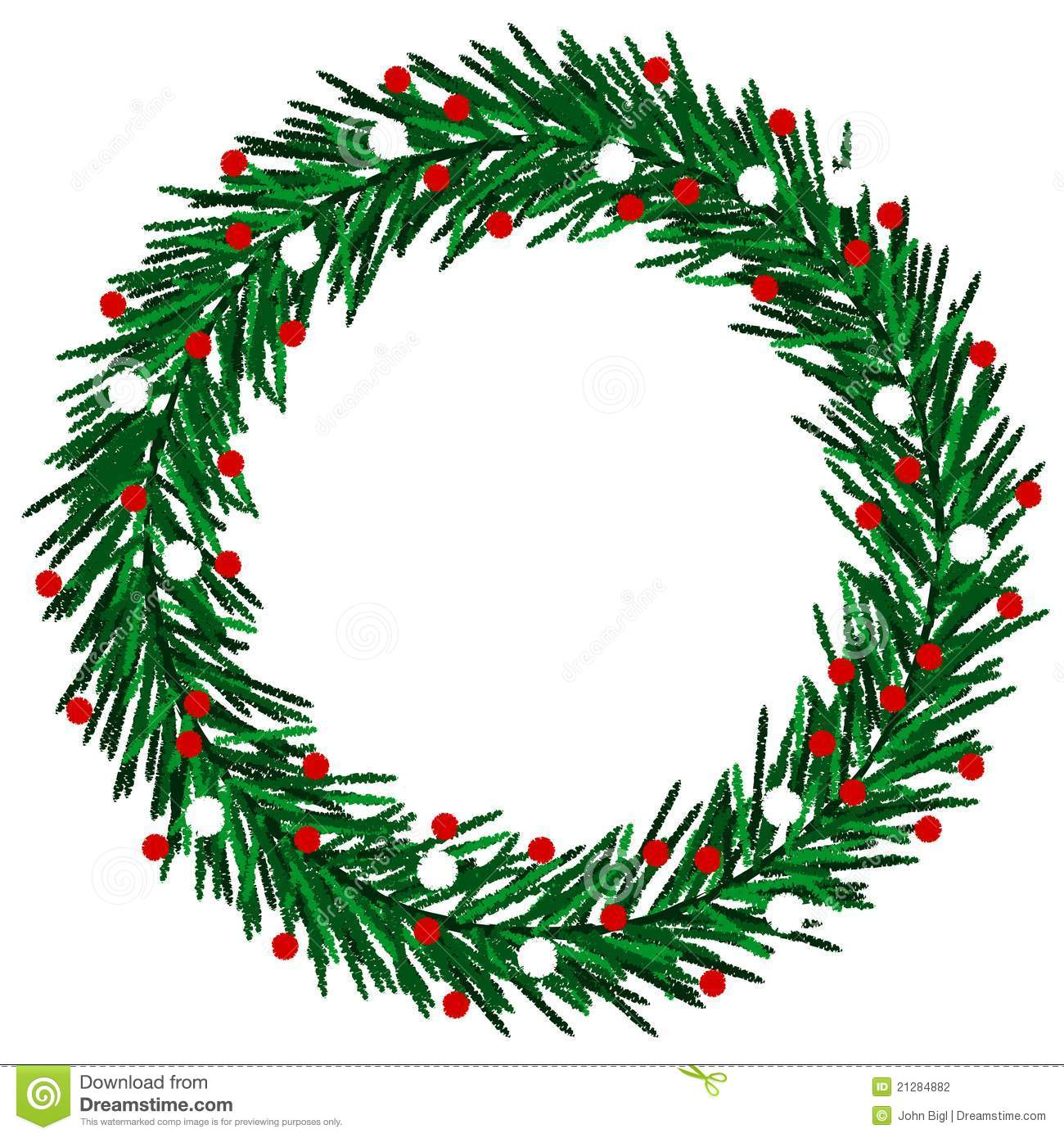 hight resolution of christmas wreath clipart