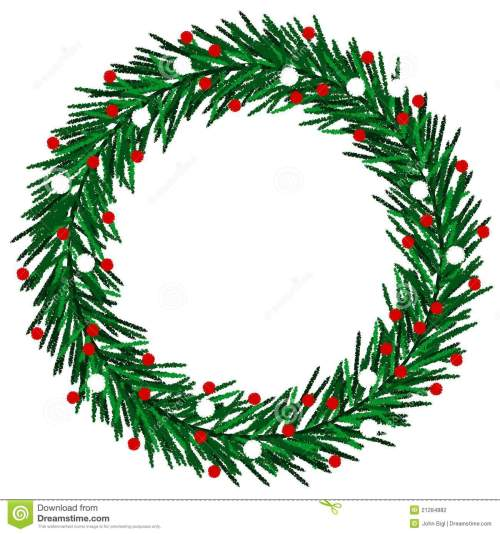 small resolution of christmas wreath clipart