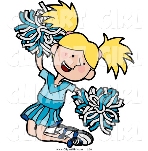 small resolution of 1024x1044 clip art of a happy and energetic blond cheerleader girl in a blue