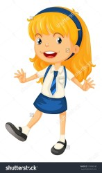 uniform clipart children illustration shutterstock getdrawings cliparts vector