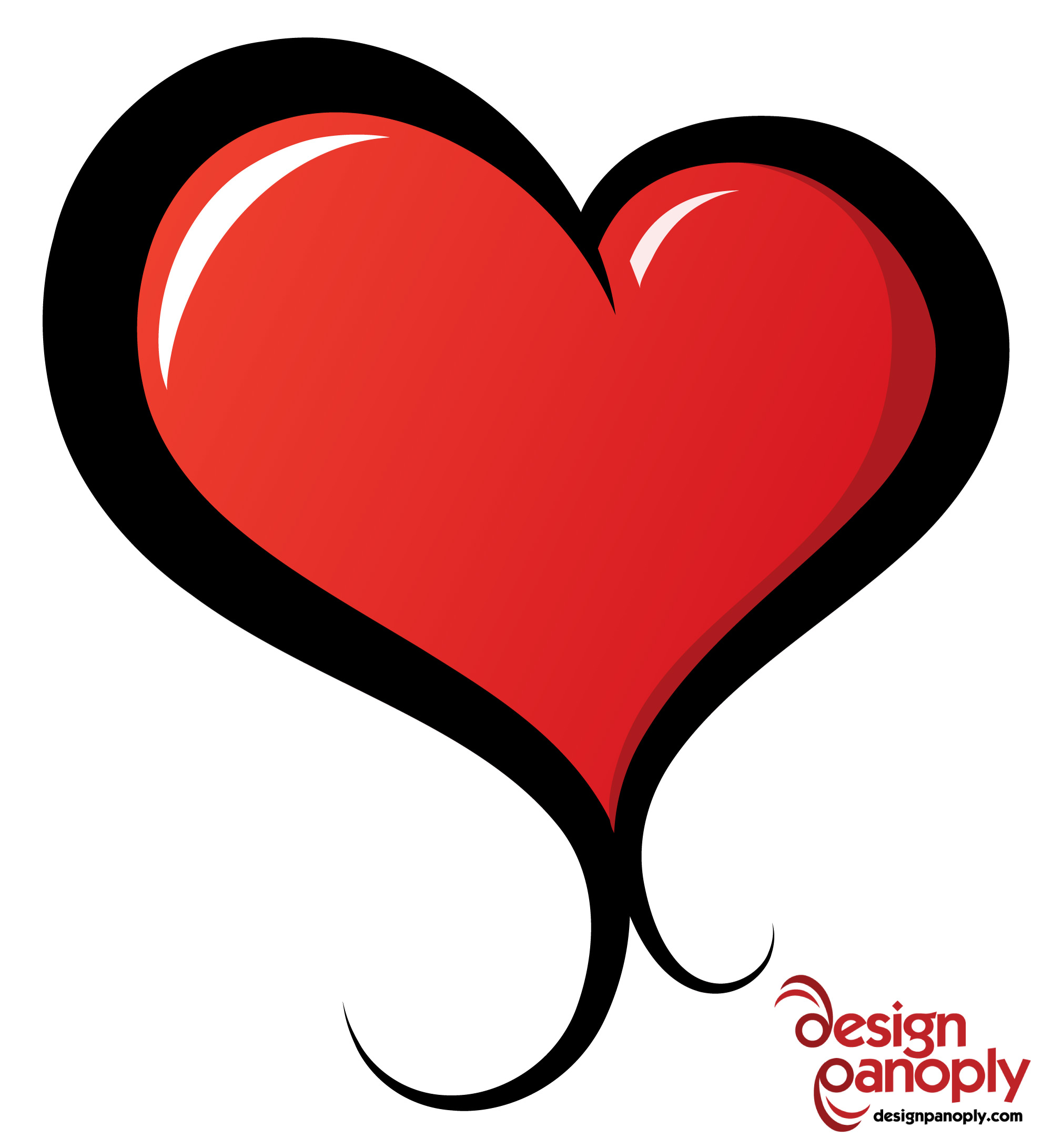 hight resolution of 2000x2182 illustrated vector heart free vector 4vector