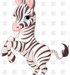 867x1200 very cute baby zebra prancing royalty free vector clip art image [ 867 x 1200 Pixel ]