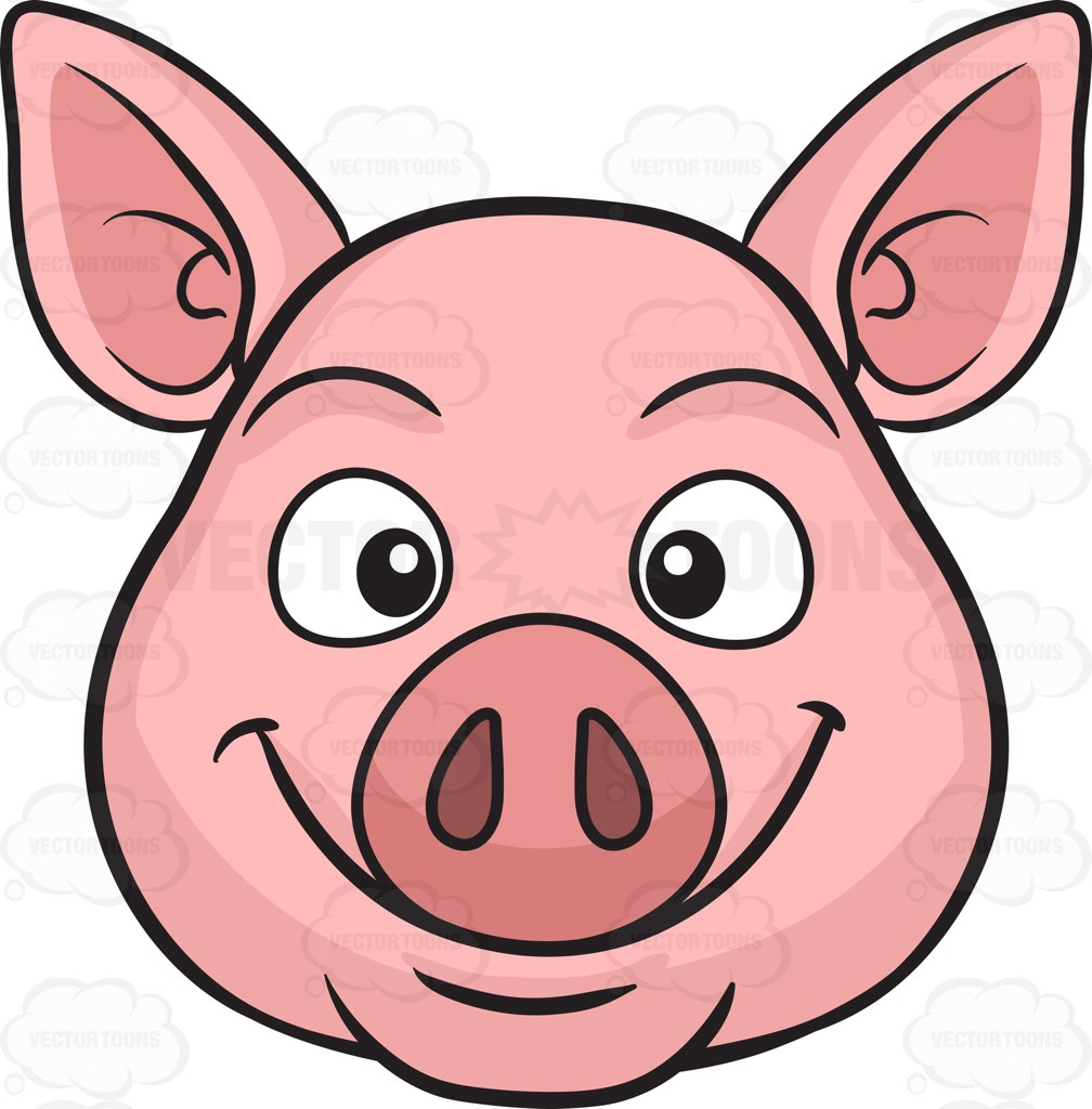 hight resolution of cute baby pig clipart