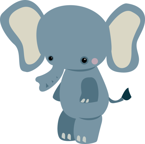 small resolution of 1600x1588 baby animal clipart small elephant