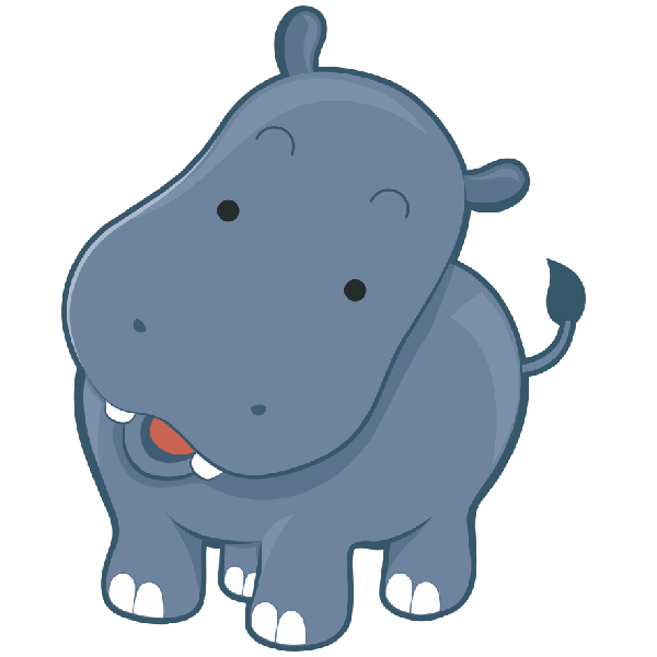 Cute Hippo Clipart at GetDrawingscom Free for personal
