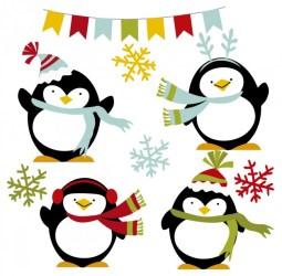 penguin vector winter penguins happy cute clipart vectors freepik psd clip getdrawings graphic ago years animals