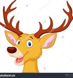 cute reindeer clipart [ 1500 x 1489 Pixel ]