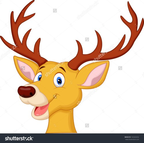 small resolution of cute reindeer clipart