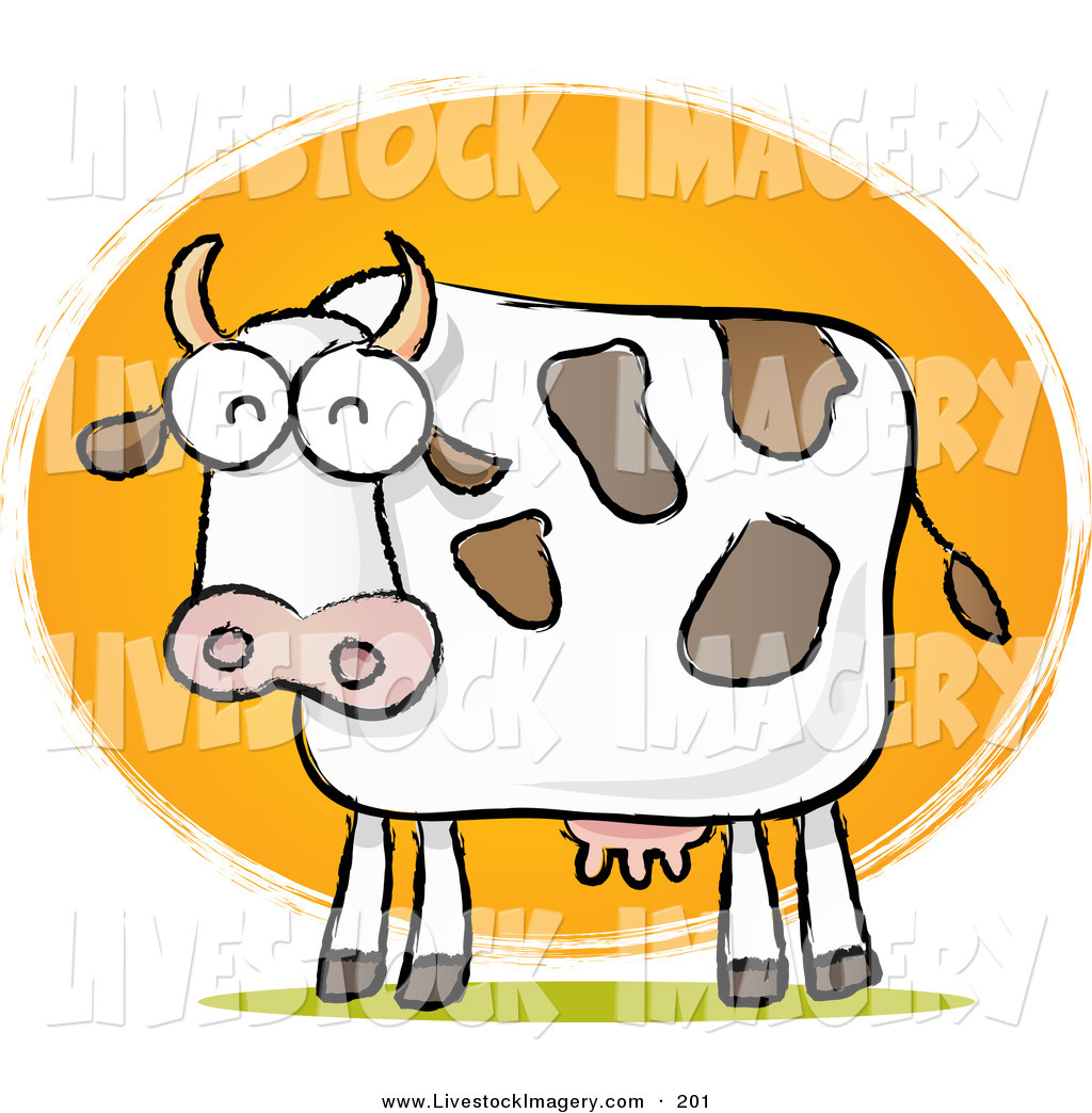 hight resolution of 1024x1044 clip art of a chubby dairy cow sketch in front of sun on