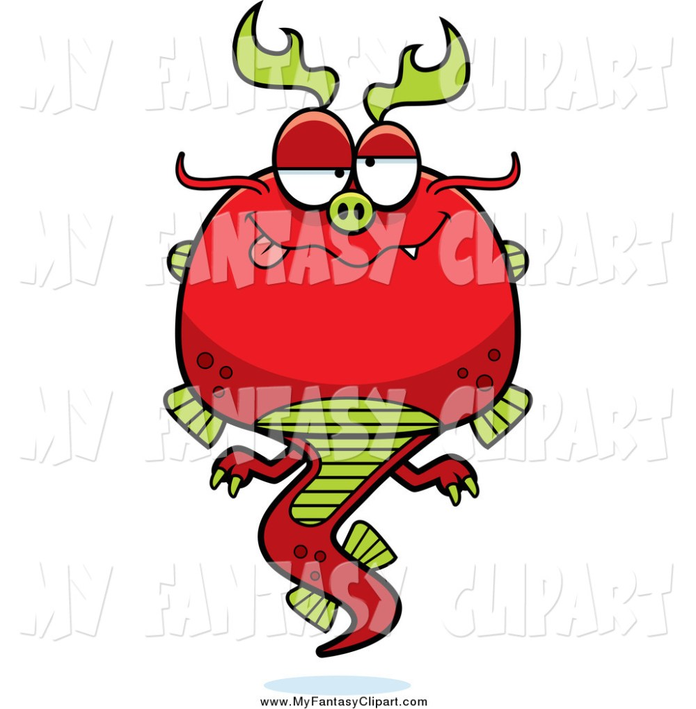 medium resolution of 1024x1044 clip art of a drunk red chinese dragon by cory thoman