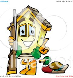 1080x1024 clipart picture of a house mascot cartoon character duck hunting [ 1080 x 1024 Pixel ]