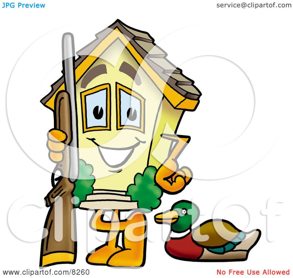 medium resolution of 1080x1024 clipart picture of a house mascot cartoon character duck hunting