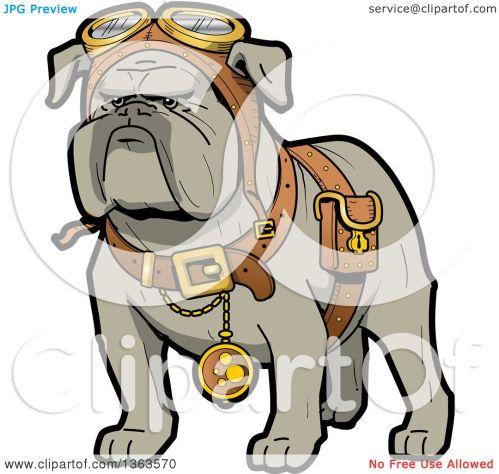 small resolution of 1080x1024 clipart of a cartoon steampunk bulldog explorer wearing a pouch