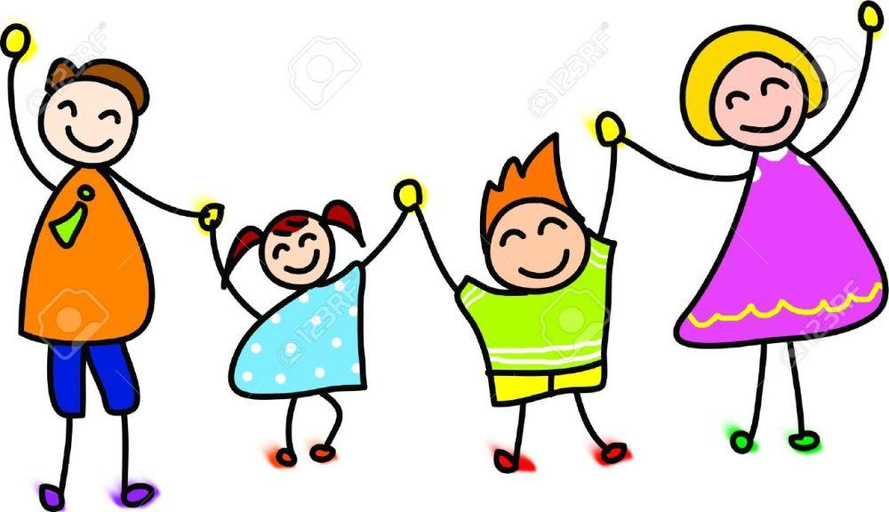 medium resolution of 1300x749 happy family cartoon clipart