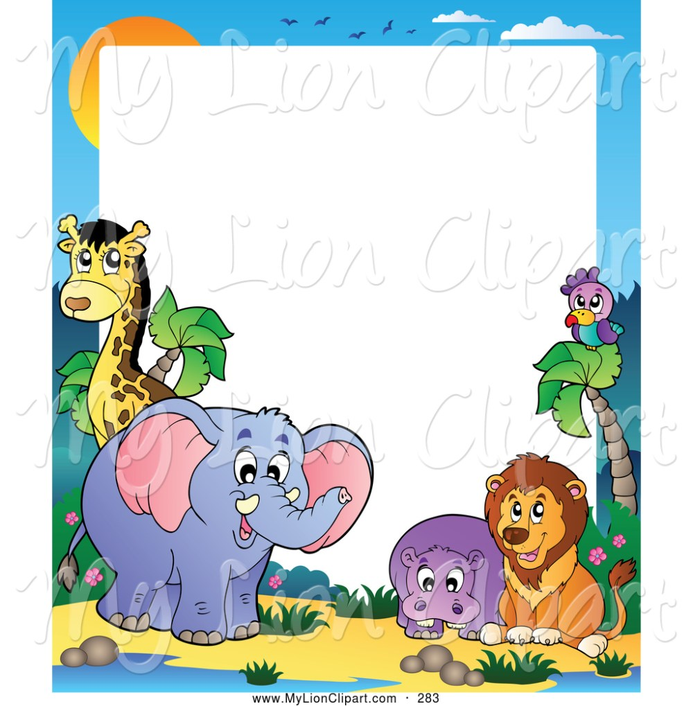 medium resolution of 1024x1044 free clip art borders animals baby animal clipart hd letters