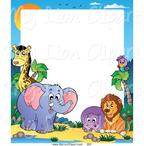 small resolution of 1024x1044 free clip art borders animals baby animal clipart hd letters