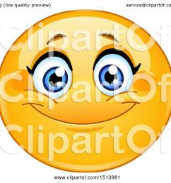 1080x1024 clipart of a yellow female emoji face smiling [ 1080 x 1024 Pixel ]